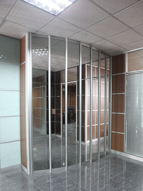 高端铝型材玻璃隔断2